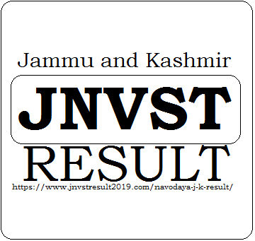Jammu and Kashmir JNVST Result 2020