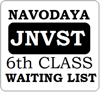 JNVST 6th Class Waiting List 2021