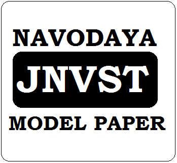 JNVST 6th Class Model Paper 2020