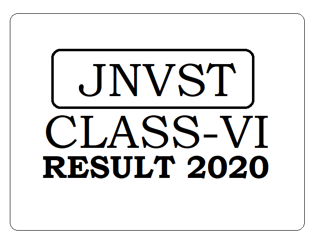 Navodaya 6th Result 2020, JNVST Result 2020 6th Class